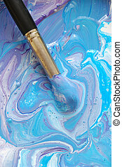 paintbrush #4 - on colourful paints