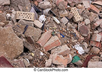 Debris - Pile of debris of a ruined building