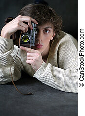Photographer - The young man with the camera