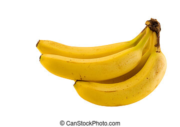 Healthy food - A bunch of isolated bananas with clipping...