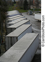 Trailers - Parked semi trailers, room for your text