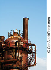 Old factory - An abandoned, rusty and old gas factory