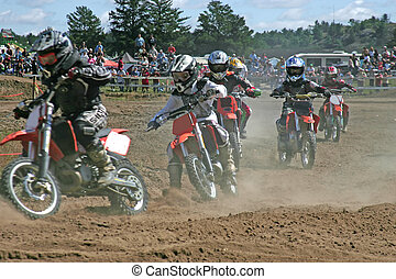 the first bend - taken at massey moto cross