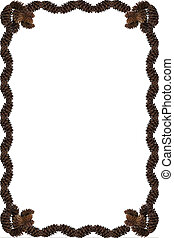 Pinecone Frame - a frame made out of pine cones on a white...