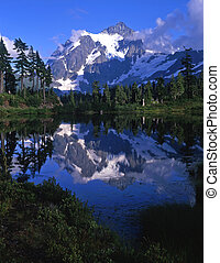 MtShuksan - Mt. Shuksan in North Cascades National Park...