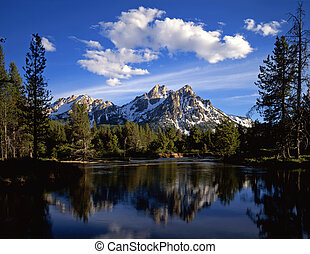 MtMcGown and Clouds - Mt McGown in the Sawtooth National...