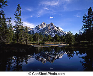MtMcGownReflection - Mt. McGown in the Sawtooth National...