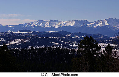 First Snow - Sangre de Cristo mountains, first snowfall