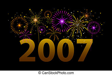 Happy 2007! - Fireworks exploding over the year...