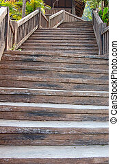 Staircase - A false wooden staircase up a hillside