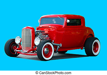 Car Show - Photographed custom hot rod at car show in...