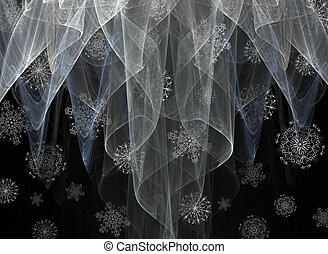 Snow Showers - A conceptual abstract of snow falling through...