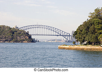 Sydney Harbour Bridge viewed from Parramatta river
