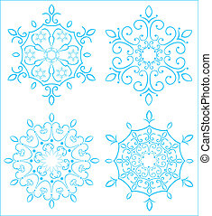 Snowflake - Design elements. Snowflake