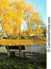 The Bench - Bench overlooks beautiful Autumn foliage and the...