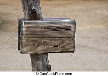 Blank Wood Sign - Put your message on this blank rustic...