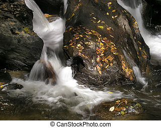 Anna Ruby Waterfall - Anna Ruby Falls Park waterfall, North...