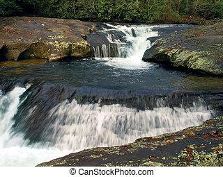 Dicks Creek Falls 1 - Waterfall at Dicks Creek, North GA