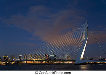 Suspension bridge 7 - Erasmus bridge, Rotterdam, Holland