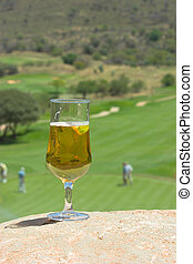 Nineteenth hole - Glass of beer after a game of golf