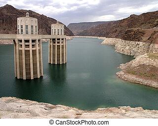 Hoover Dam back - Behind Hoover Dam