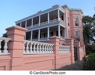 House porch - House on Battery – porch, Charleston, SC