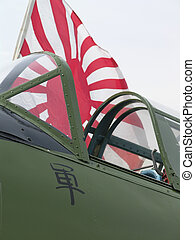 Japanese Cockpit - WWII Japanese Zero fighter aircraft...