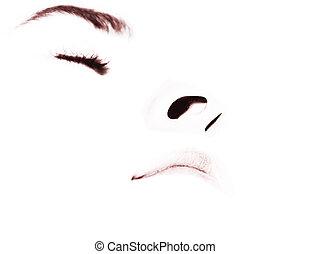Portrait-profile-con - A profile-portrait, isolated on...