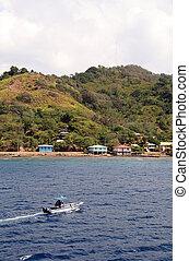 honduras, litoral, barco
