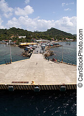 Roatan Honduras Coastline Dock Area - Welcome Party