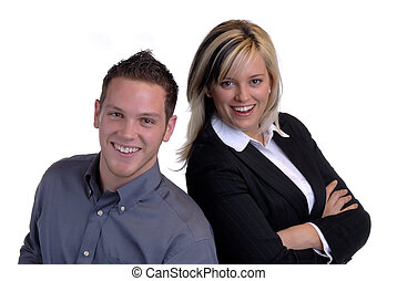 Business Couple - Male And Female Attractive Young Business...