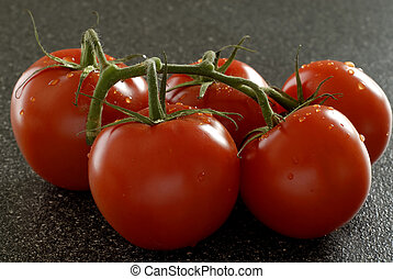Hot House Tomatoes - A Truss Of Greenhouse Grown Tomatoes...