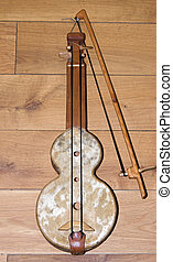 rabel , medieval music instrument , played in present...