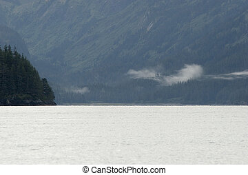 Peacefull morning in fiords - Prince William Sound - alaskan...