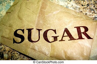 Sugar Packet - A single sugar packet waiting to be opened