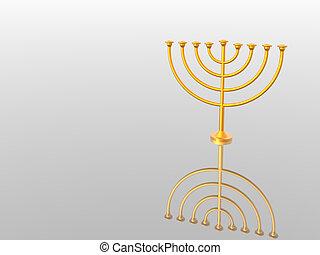 Menorah - Hanukkah. Menorah. 3D. Look my portfolio.