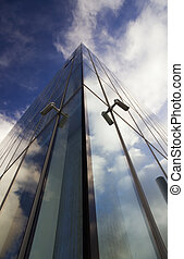 knife edge - Corner of glass faced office building...