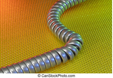 Phone Cord - Photo of a Telephone Cord - Communication...