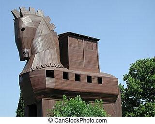 Trojan Horse in Troy (Turkey)