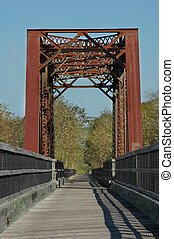 Trestle Bridge - The old railroad trestle is now a walking...