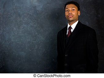 Businessman - Copyspace - Portrait of an African American...