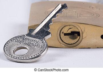 locked - padlock and key