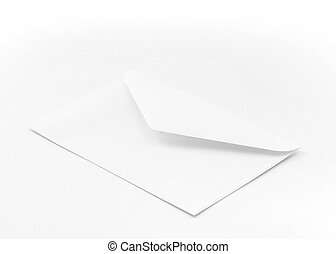 Envelope - White envelope with open flap