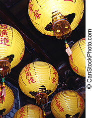 Taiwan Lanterns - Colorful lanterns decorate the ceiling of...