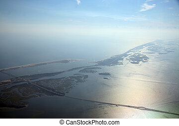 Long Island View - View of a portion of Long Island during...