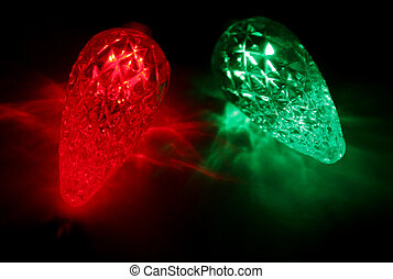 Christmas Lights Upc - Red and green LED Christmas lights....