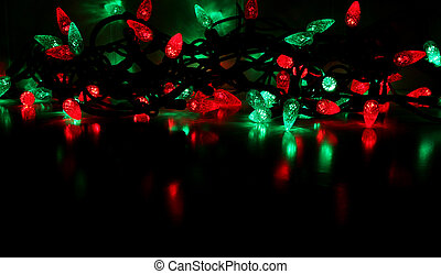 Red and Green Christ - Red and green LED Christmas lights....