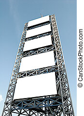 Advertiement scaffold - Tall scaffolding with blank...