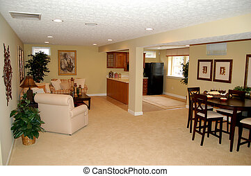 Finished Basement - nicely decorated full finished basement...