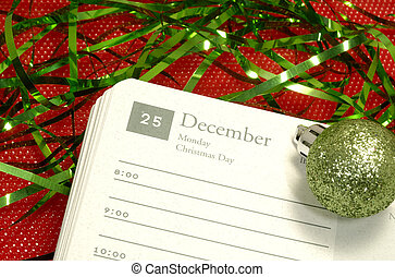 Christmas Day - Photo of a Calendar Open To Christmas Day -...